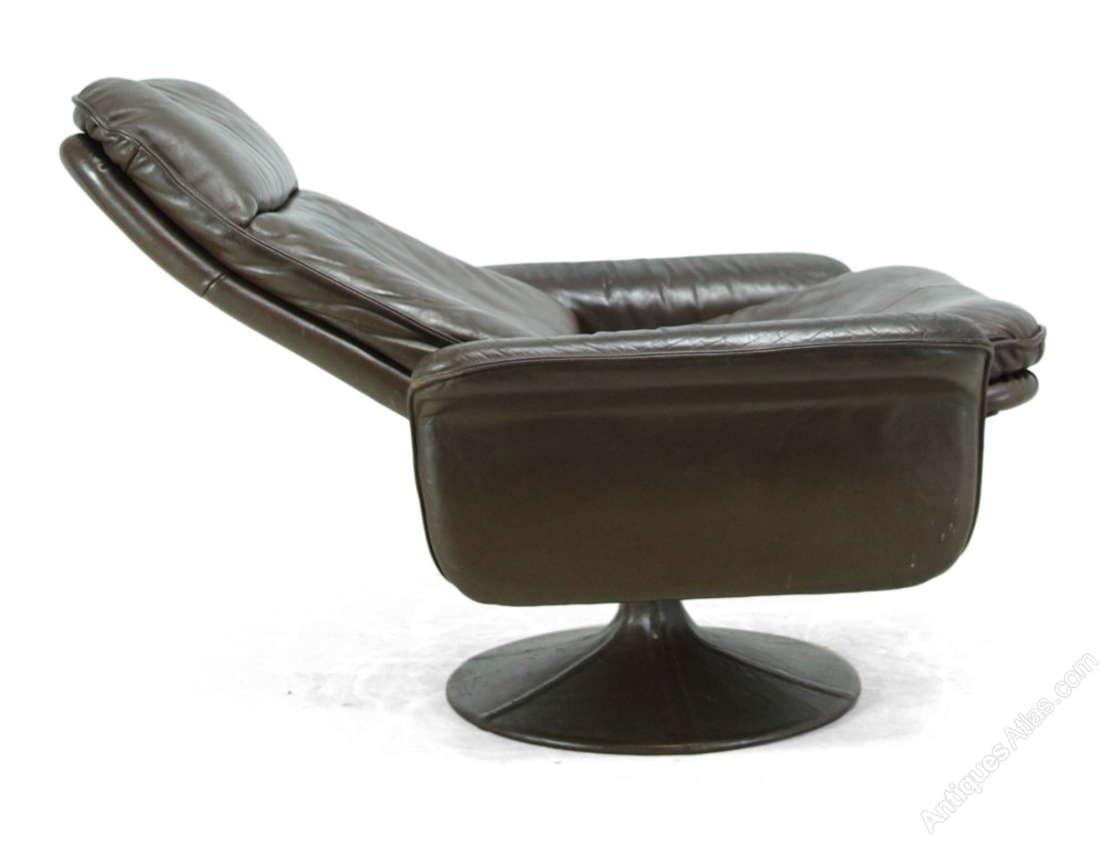 Antiques Atlas Leather Swivel Chair By De Sede C1970