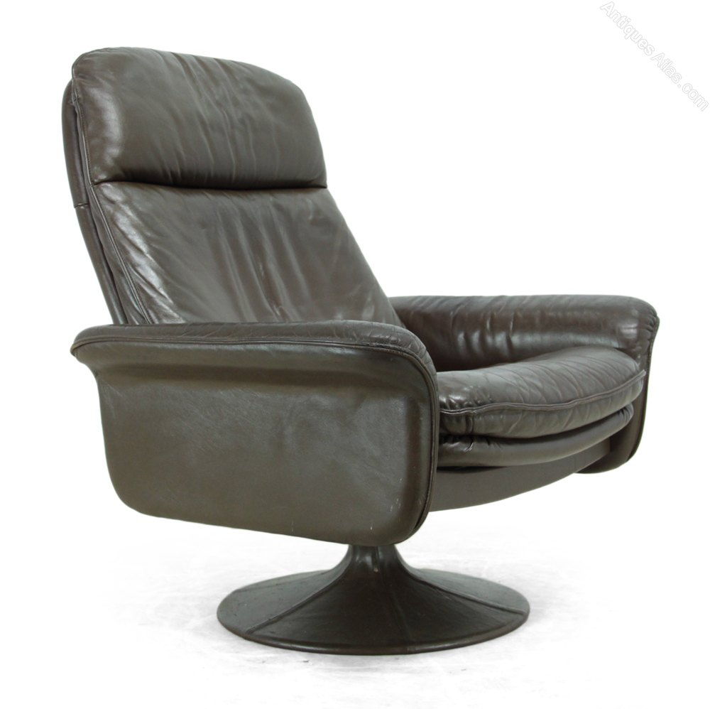Antiques Atlas - Leather Swivel Chair By De Sede C1970