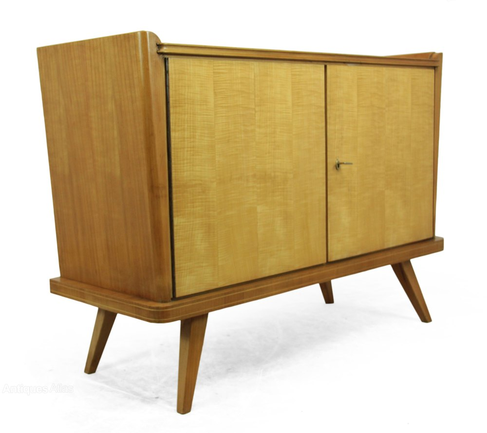 antiques atlas mid century sideboard satin birch c1960. Black Bedroom Furniture Sets. Home Design Ideas