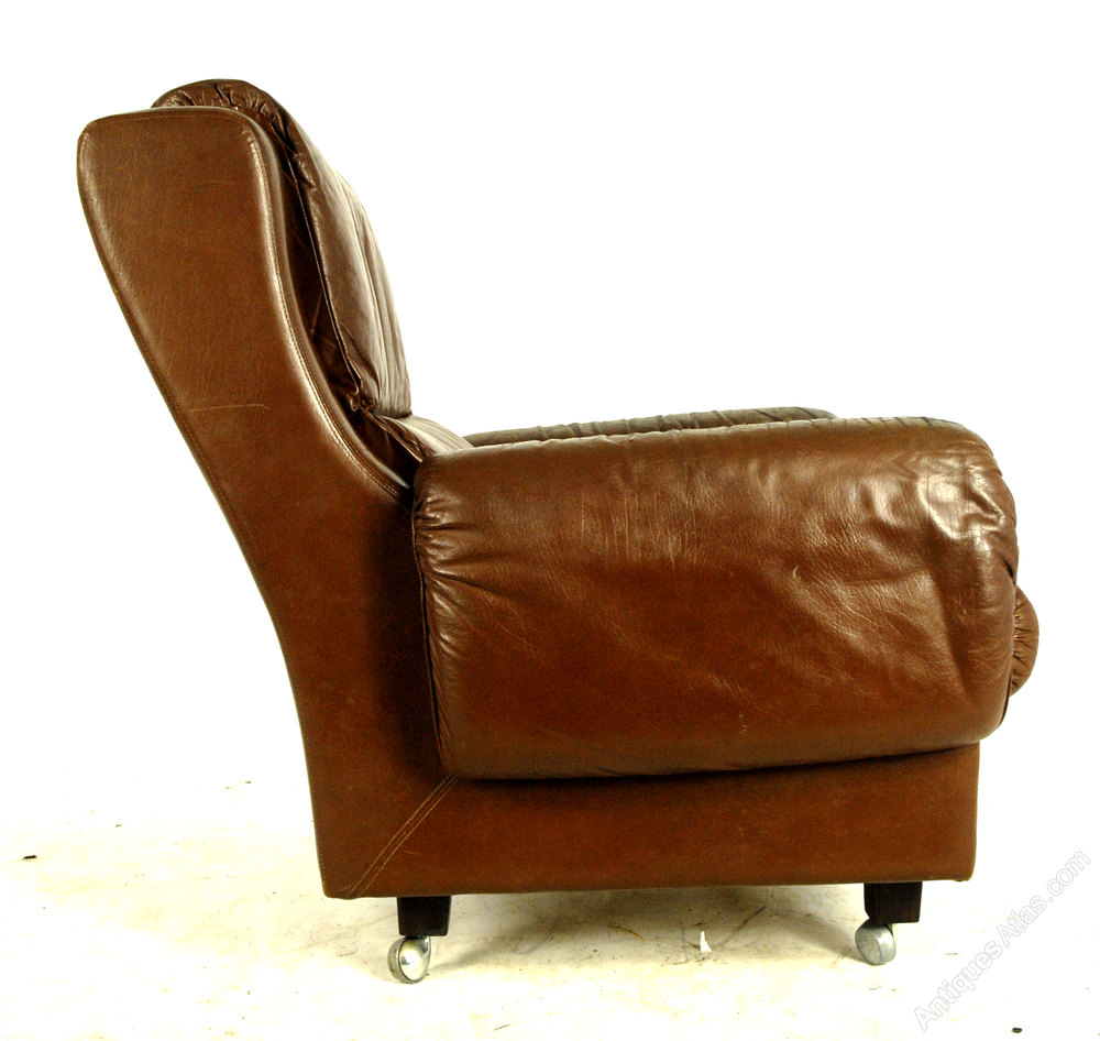 Antiques Atlas Pair Of Mid Century Leather Chairs From