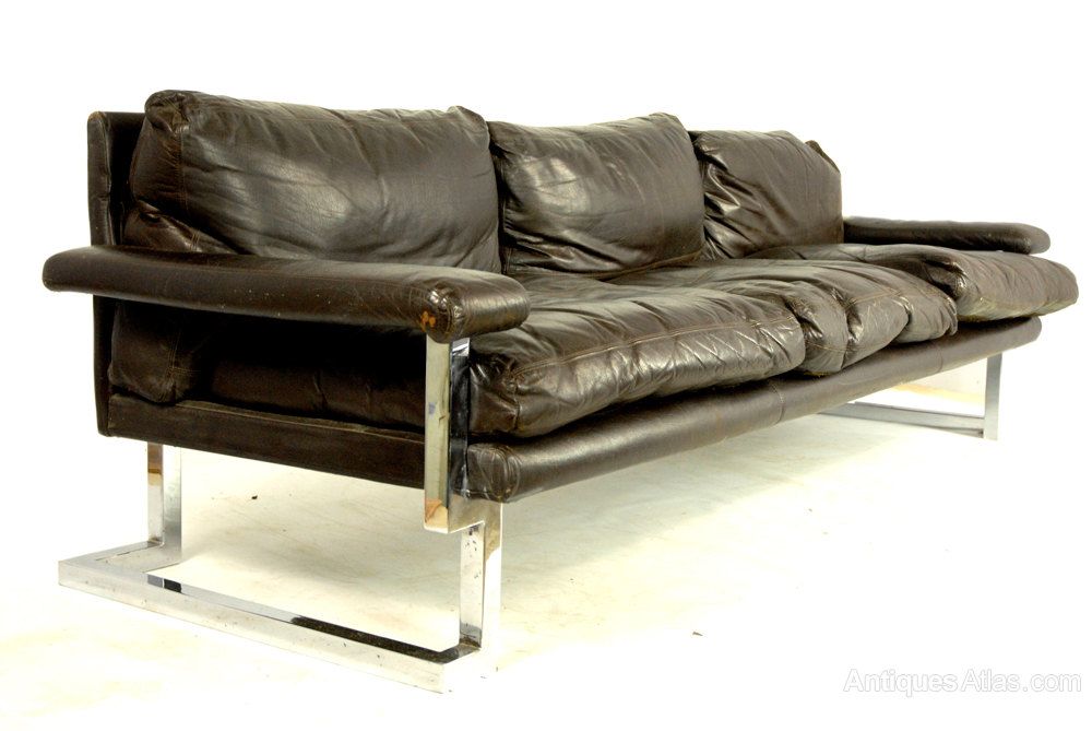 Antiques Atlas Pieff Chrome And Leather Sofa