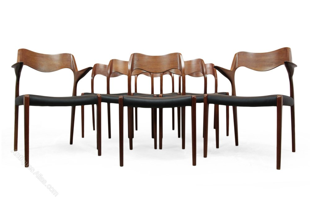 Antiques Atlas Set Of 8 Teak Dining Chairs By Niels