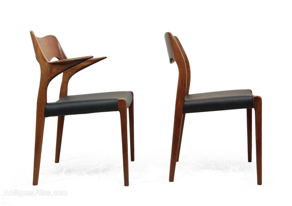 antiques atlas set of 8 teak dining chairs by niels moller model