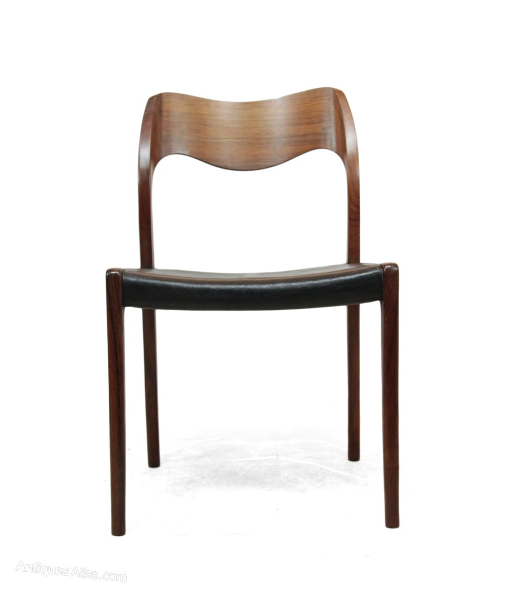 Antiques atlas set of rosewood dining chairs by niels