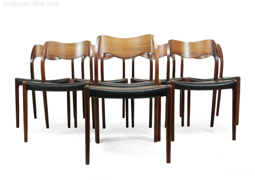 Antiques Atlas Set Of 8 Rosewood Dining Chairs By Niels Moller