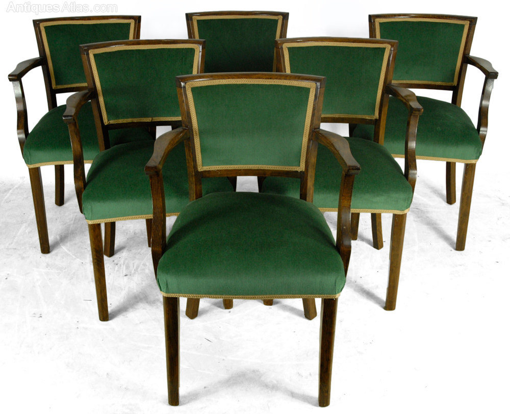 Set Of French Art Deco Style Dining Chairs - Antiques Atlas