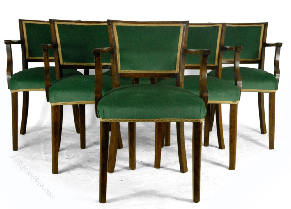 Set Of French Art Deco Style Dining Chairs Antiques Atlas