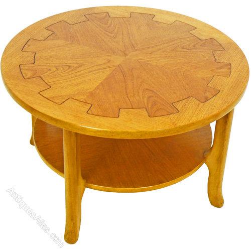 Vintage Teak Round Mid-Century Coffee Table