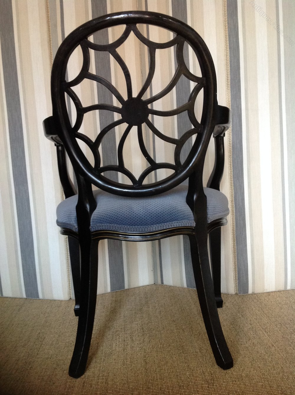 19thc Hepplewhite Style Spider Web Back Chair Antiques Atlas