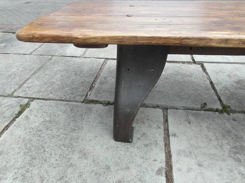 Industrial Cast Iron Base Coffee Table Antiques Atlas