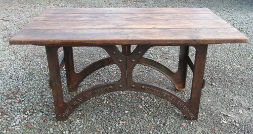 Attractive Industrial Dining Table Antique Kitchen Tables Wrekin Foundry Cast Iron