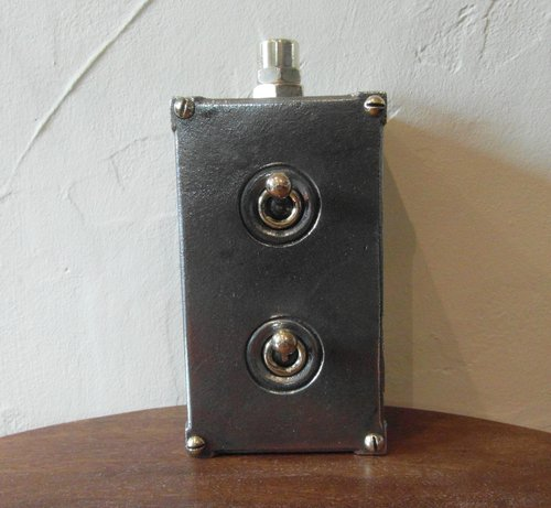 Vintage Industrial Double Light Switch
