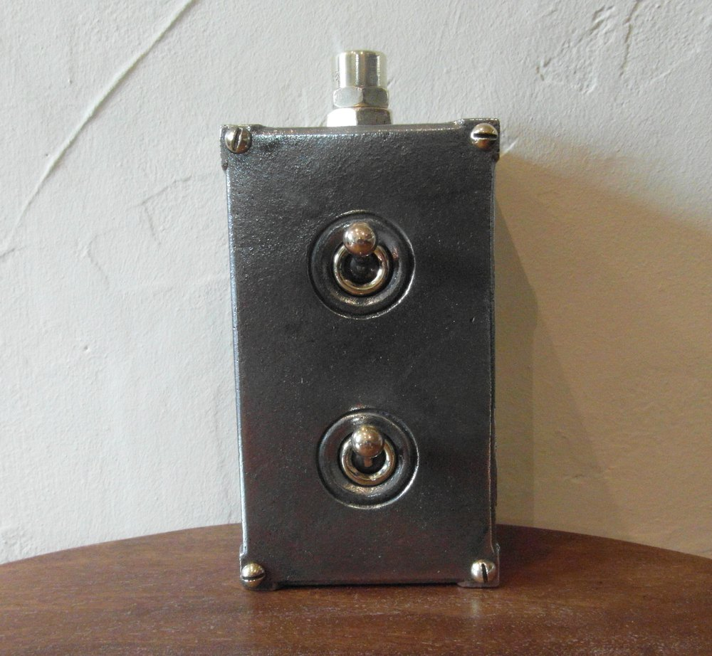 Vintage Industrial Light Switch: Vintage Industrial Double Light Switch