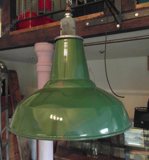 Vintage Industrial Enamel Pendant Light