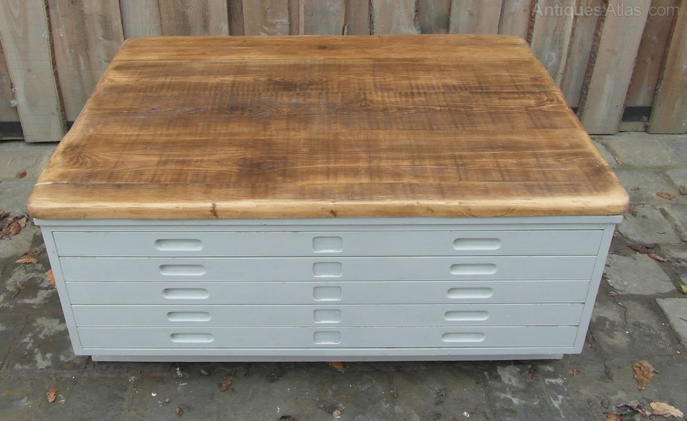 Antiques Atlas Vintage Plan Chest Coffee Table