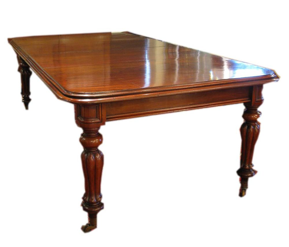 Antique 19th c mahogany two leaf dining table antiques atlas for Dining table with two leaves