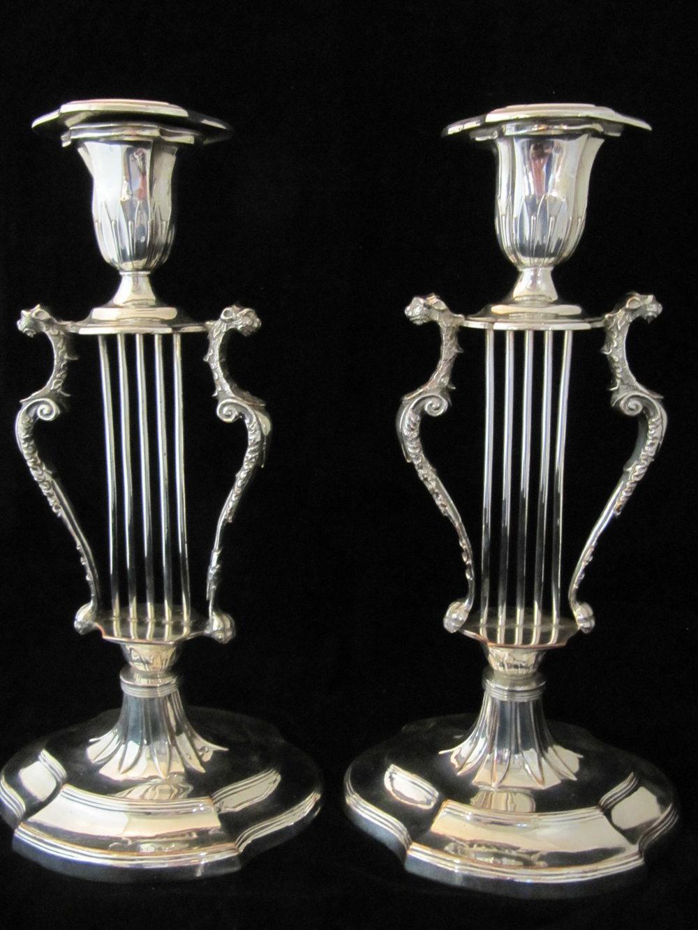 Antiques Atlas - Antique Sheffield Plate Candlesticks