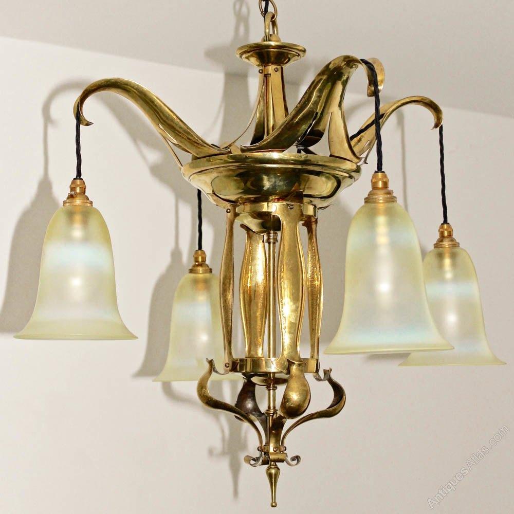 Antiques Atlas Brass Amp Vaseline Glass Ceiling Light