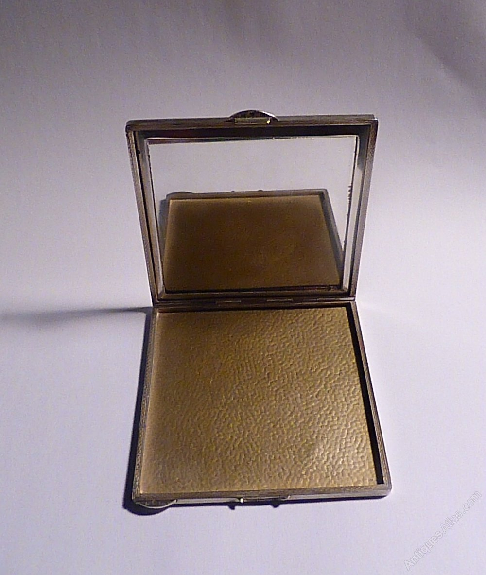 Antique Wedding Gifts: Antique Silver Wedding Gifts Powder Compact