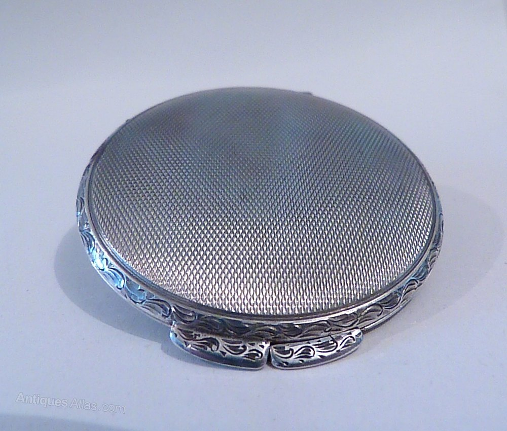 Antiques Atlas Antique Silver Gifts Solid Silver Compact