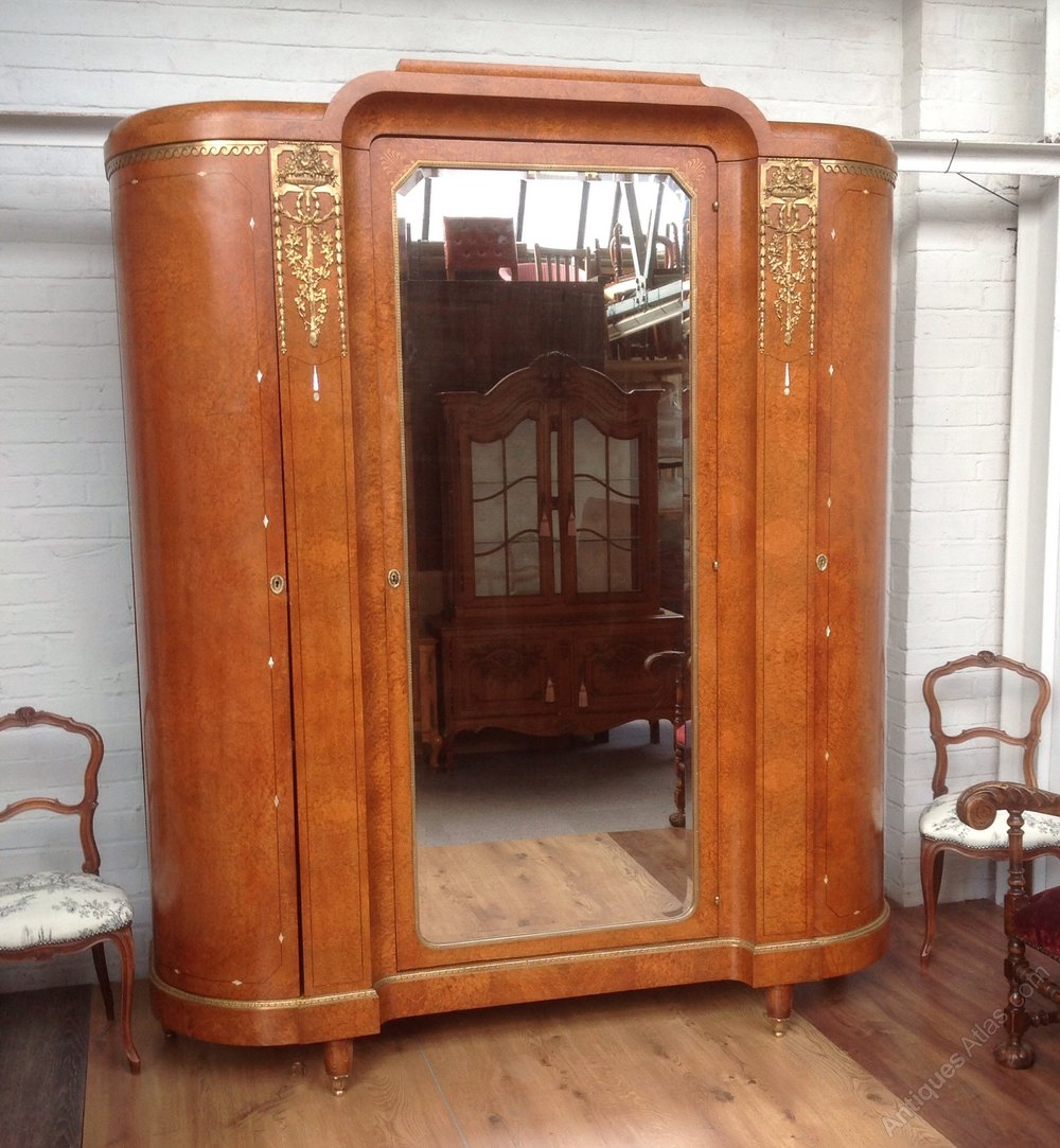 Large French Art Deco Walnut Armoire Antiques Atlas