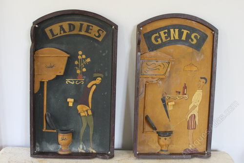 retro toilet signs images. Black Bedroom Furniture Sets. Home Design Ideas