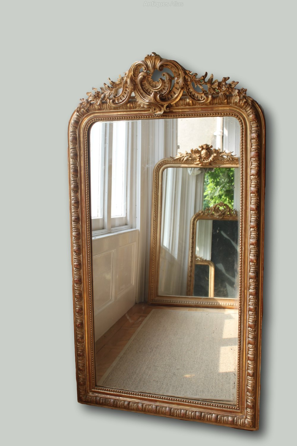 Antiques atlas large antique french gilt mirror for French mirror