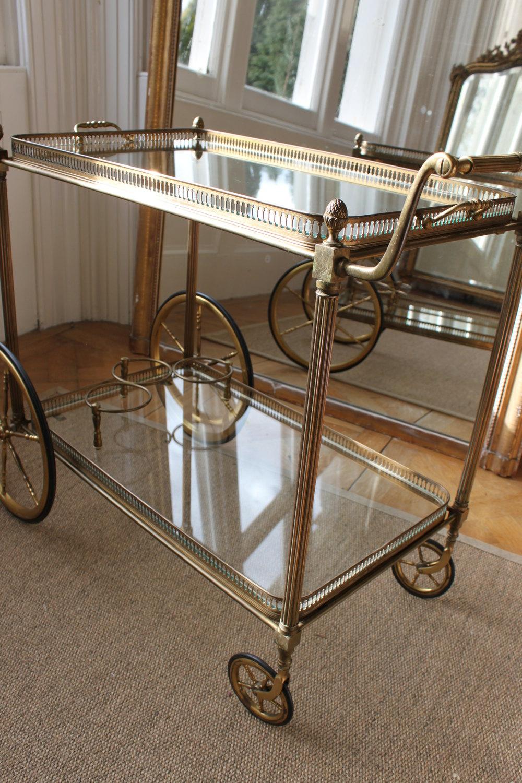 Antiques Atlas Vintage Brass Drinks Trolley Bar Cart