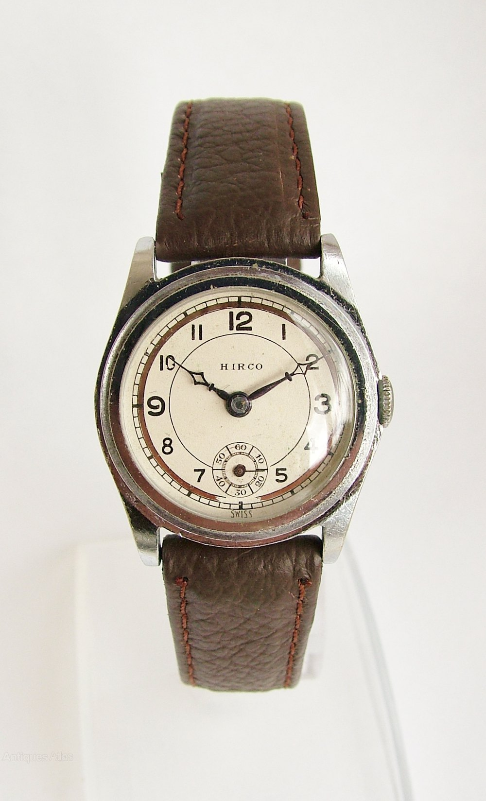 Antiques Atlas - 1940s Hirco Hand Winding Wrist Watch