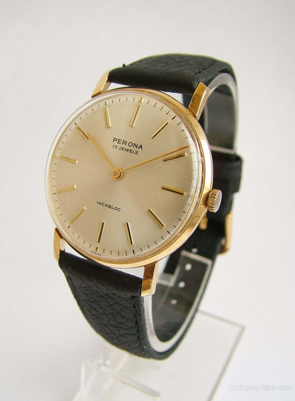 Antiques Atlas - 1960s Gents Perona Hand Winding Wrist Watch