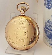 cc10d4b869a A 1900s Waltham Traveler Full Hunter Pocket Watch.