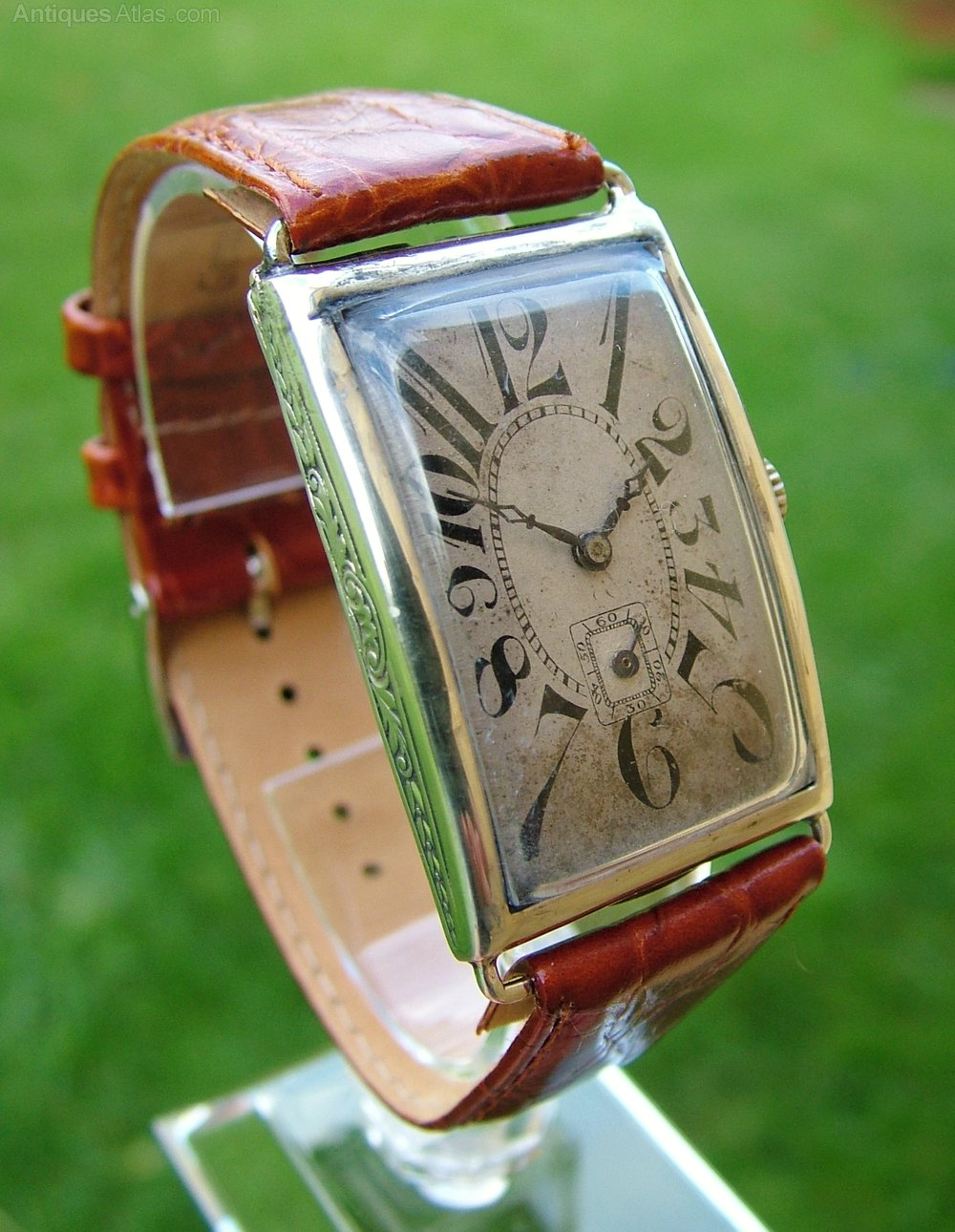 Antiques atlas a gents 1927 silver art deco wrist watch for Minimal art wrist watch