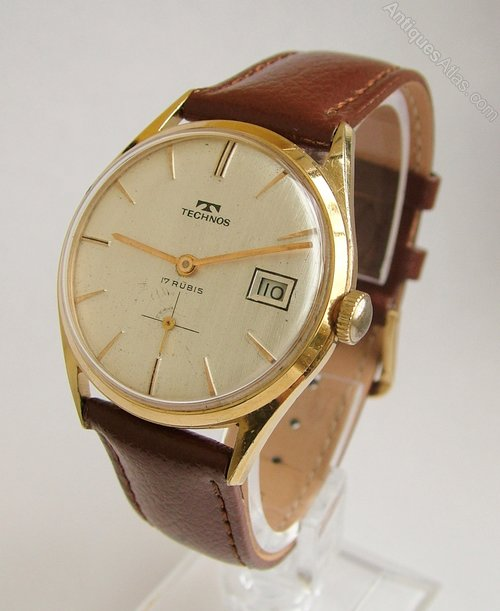 Antiques atlas a gents 1960s technos wrist watch for Technos watches