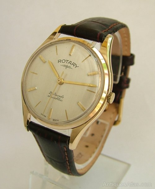 antiques atlas a gents 1964 9 carat gold rotary wrist