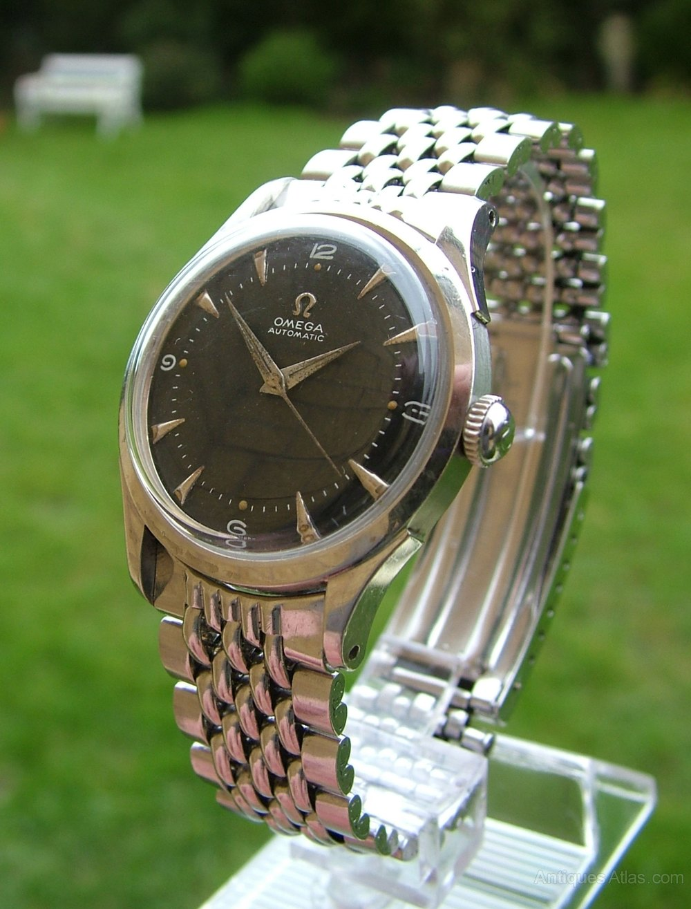 Omega Vintage Mens Wrist Watch Stainless Steel