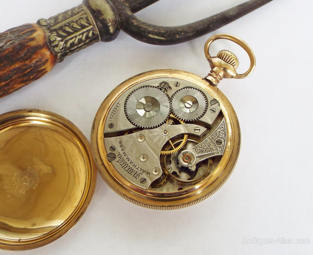 how to open a waltham pocket watch