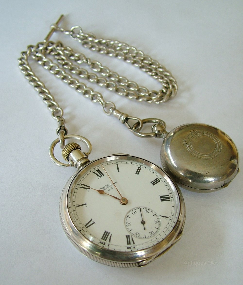 antiques atlas antique silver waltham pocket and