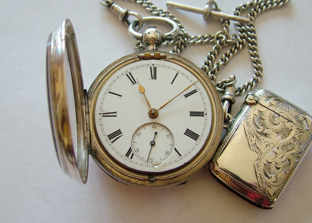 antiques atlas antique silver pocket chain and