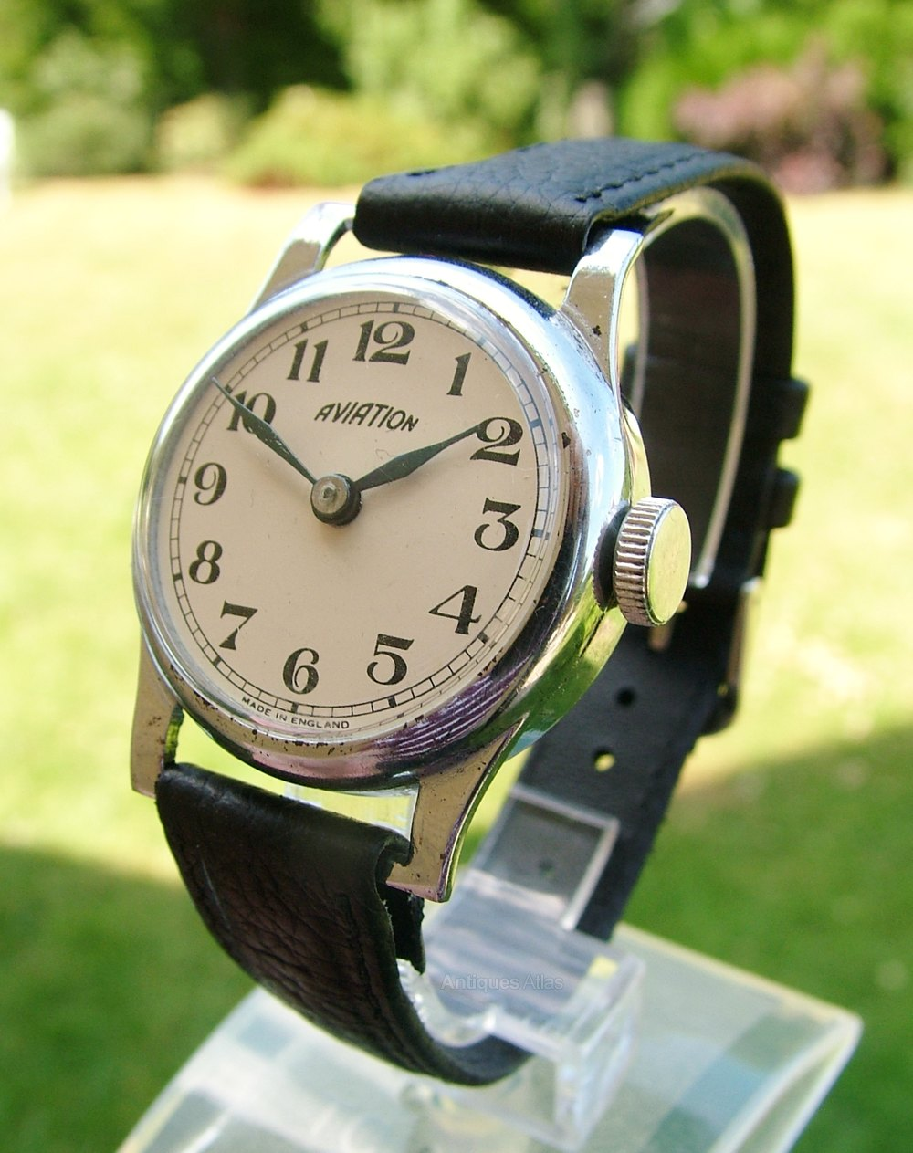 antiques atlas gents 1940s aviation wrist watch made in england