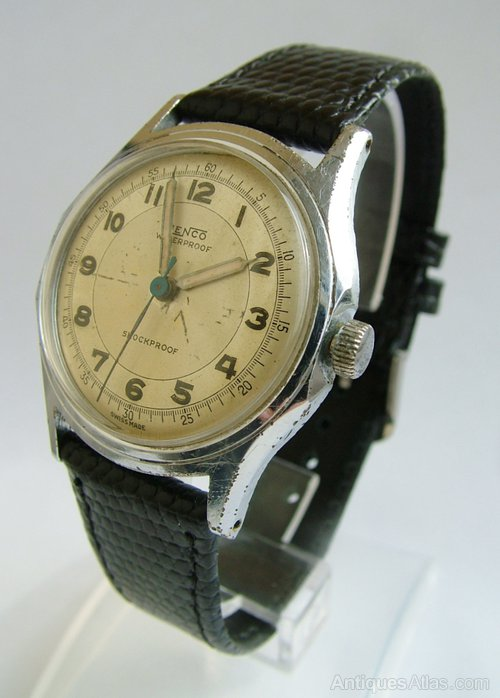 Antiques Atlas - Gents 1940s Jenco Hand Winding Wrist Watch