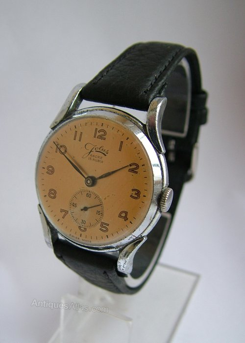 Antiques Atlas - Gents 1940s Jolus Hand Winding Wrist Watch