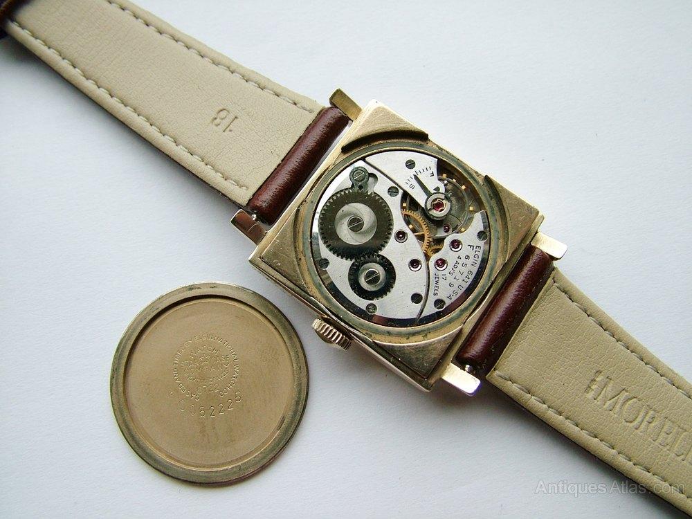antiques atlas gents 1950 elgin de luxe wrist watch gents 1950 elgin de luxe wrist watch