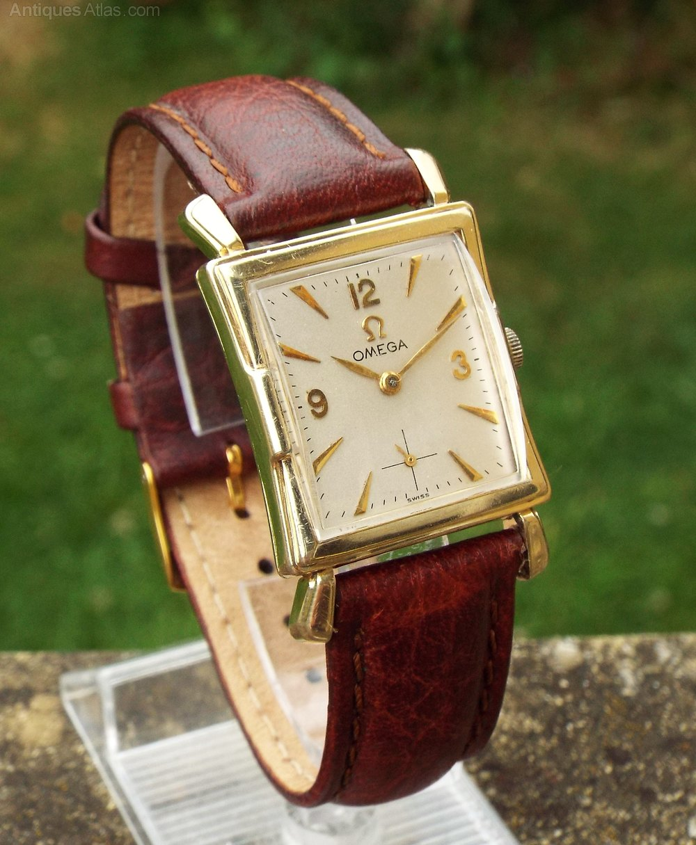 Antiques atlas gents 1950s art deco style omega wrist watch for Art deco look