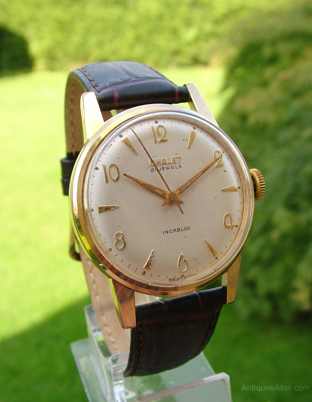 Antiques Atlas - Gents 1950s Chalet Hand Winding Wrist Watch