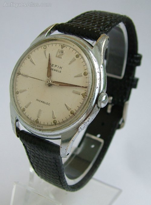 Antiques Atlas - Gents 1950s Hefik Hand Winding Wrist Watch