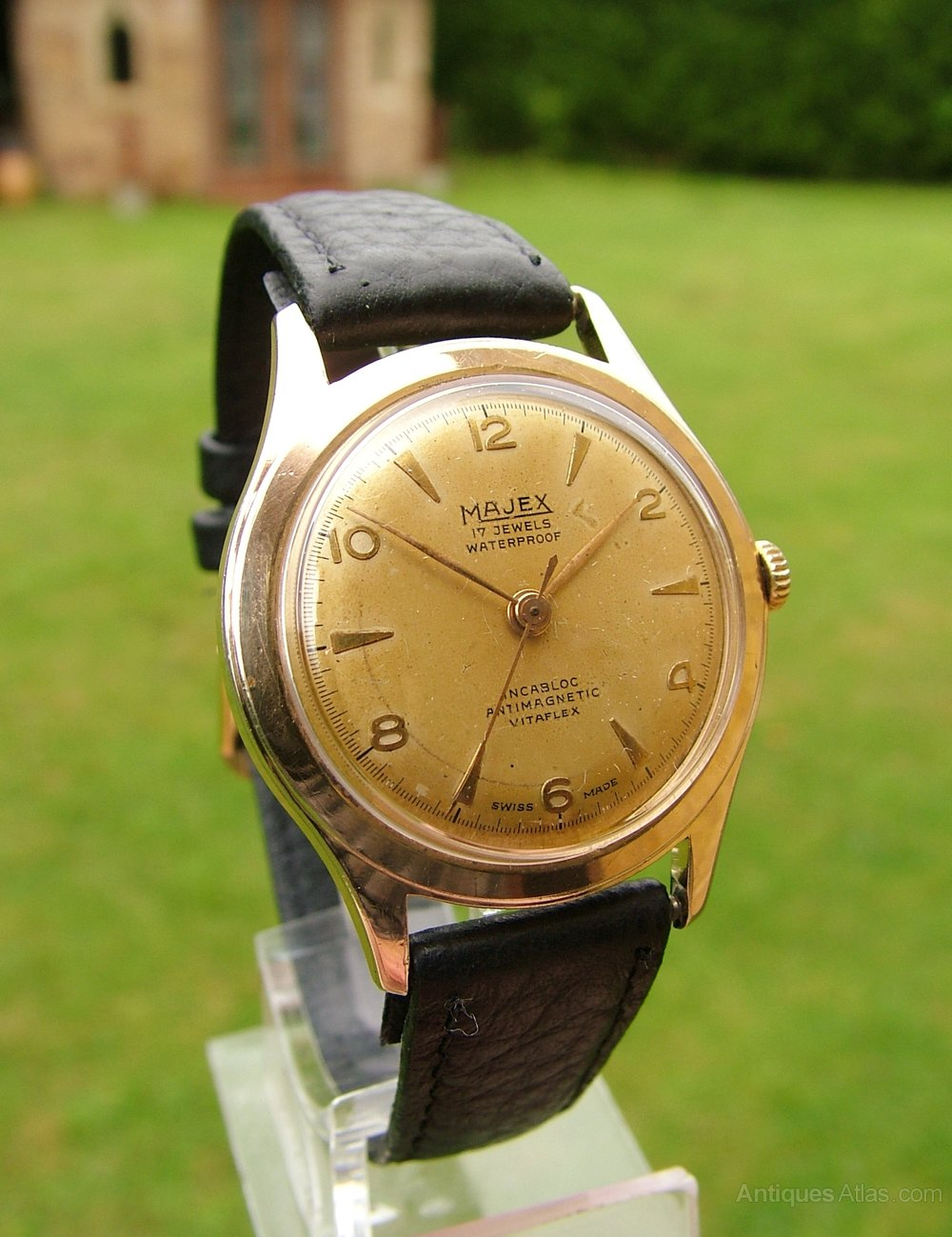 Antiques Atlas - Gents 1950s Majex Hand Winding Wrist Watch.