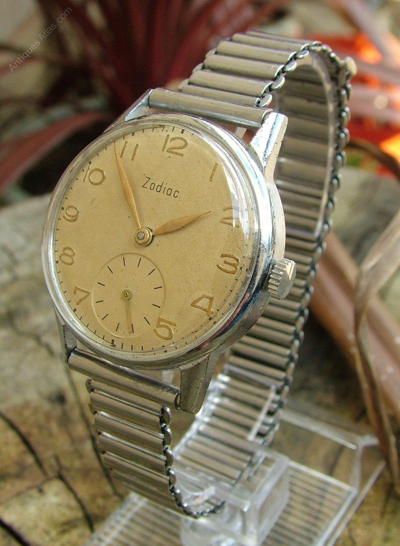 Antiques Atlas Gents 1950s Zodiac Wrist Watch Bonklip