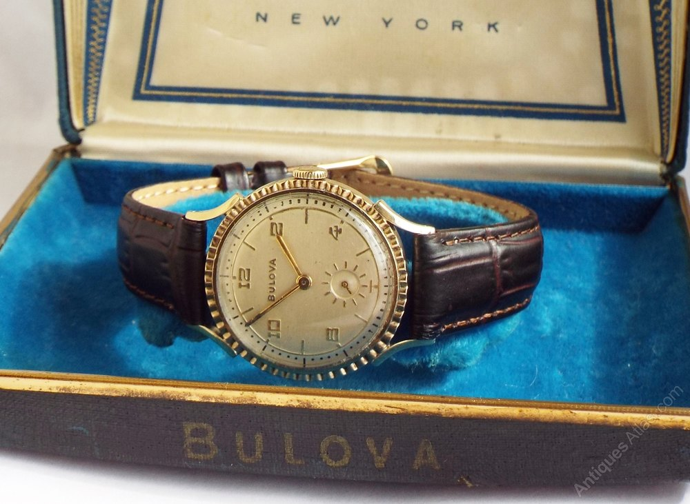 antiques atlas gents 1950s boxed bulova gold filled