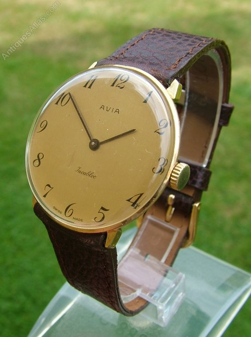 Antiques Atlas - Gents 1960s Avia Hand Winding Wrist Watch