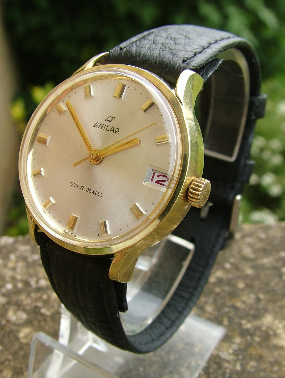 Antiques atlas gents 1960s enicar star jewels ocean pearl watch for Pearl watches